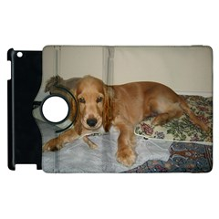 Red Cocker Spaniel Puppy Apple iPad 2 Flip 360 Case