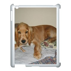 Red Cocker Spaniel Puppy Apple iPad 3/4 Case (White)