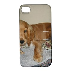 Red Cocker Spaniel Puppy Apple iPhone 4/4S Hardshell Case with Stand