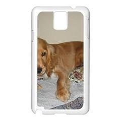 Red Cocker Spaniel Puppy Samsung Galaxy Note 3 N9005 Case (White)