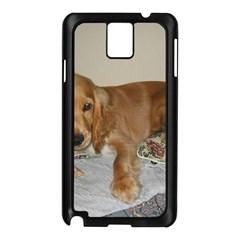 Red Cocker Spaniel Puppy Samsung Galaxy Note 3 N9005 Case (Black)