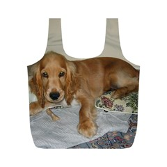 Red Cocker Spaniel Puppy Full Print Recycle Bags (M)
