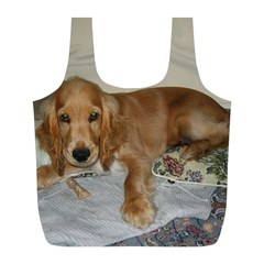 Red Cocker Spaniel Puppy Full Print Recycle Bags (L)