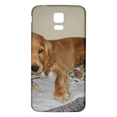 Red Cocker Spaniel Puppy Samsung Galaxy S5 Back Case (White)