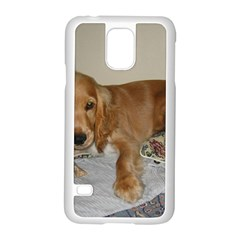 Red Cocker Spaniel Puppy Samsung Galaxy S5 Case (White)