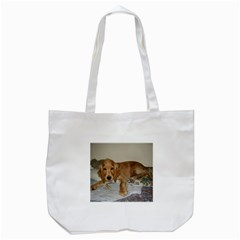 Red Cocker Spaniel Puppy Tote Bag (White)
