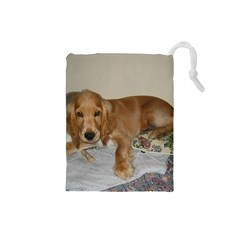 Red Cocker Spaniel Puppy Drawstring Pouches (Small)