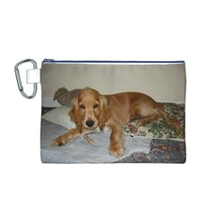 Red Cocker Spaniel Puppy Canvas Cosmetic Bag (M)