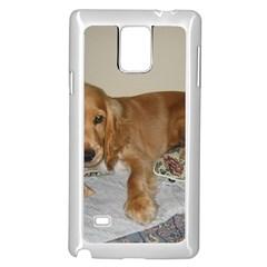 Red Cocker Spaniel Puppy Samsung Galaxy Note 4 Case (White)