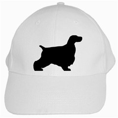 English Cocker Spaniel Silo Black White Cap