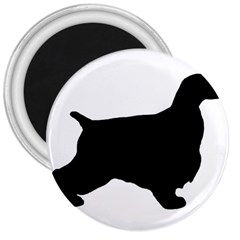 English Cocker Spaniel Silo Black 3  Magnets