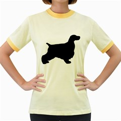 English Cocker Spaniel Silo Black Women s Fitted Ringer T-Shirts