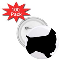 English Cocker Spaniel Silo Black 1.75  Buttons (100 pack)