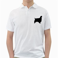 English Cocker Spaniel Silo Black Golf Shirts