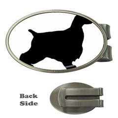 English Cocker Spaniel Silo Black Money Clips (Oval)