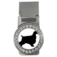English Cocker Spaniel Silo Black Money Clips (CZ)