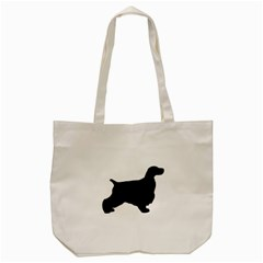 English Cocker Spaniel Silo Black Tote Bag (Cream)