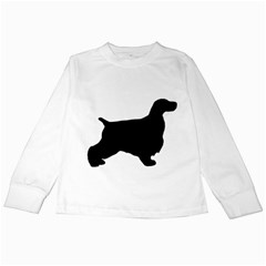English Cocker Spaniel Silo Black Kids Long Sleeve T-Shirts