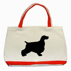 English Cocker Spaniel Silo Black Classic Tote Bag (Red)