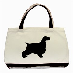 English Cocker Spaniel Silo Black Basic Tote Bag (Two Sides)