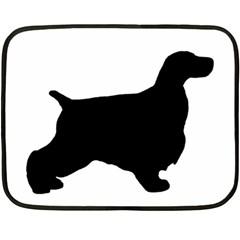 English Cocker Spaniel Silo Black Fleece Blanket (Mini)