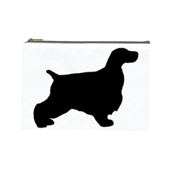 English Cocker Spaniel Silo Black Cosmetic Bag (Large)