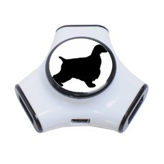 English Cocker Spaniel Silo Black 3-Port USB Hub