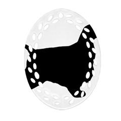 English Cocker Spaniel Silo Black Ornament (Oval Filigree)