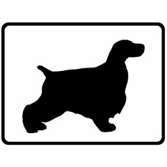 English Cocker Spaniel Silo Black Double Sided Fleece Blanket (Large)