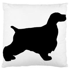 English Cocker Spaniel Silo Black Large Flano Cushion Case (One Side)