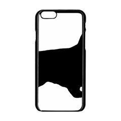 English Cocker Spaniel Silo Black Apple iPhone 6/6S Black Enamel Case