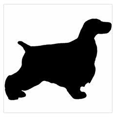 English Cocker Spaniel Silo Black Large Satin Scarf (Square)