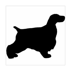 English Cocker Spaniel Silo Black Square Tapestry (Large)