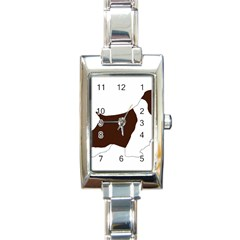 English Springer Spaniel Silo Color Rectangle Italian Charm Watch