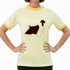 English Springer Spaniel Silo Color Women s Fitted Ringer T-Shirts