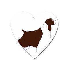 English Springer Spaniel Silo Color Heart Magnet