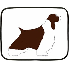 English Springer Spaniel Silo Color Double Sided Fleece Blanket (Mini)