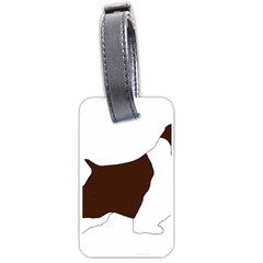 English Springer Spaniel Silo Color Luggage Tags (One Side)