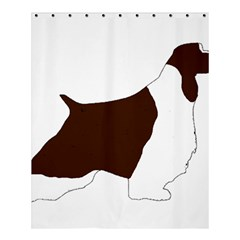 English Springer Spaniel Silo Color Shower Curtain 60  x 72  (Medium)