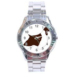 English Springer Spaniel Silo Color Stainless Steel Analogue Watch