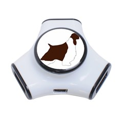 English Springer Spaniel Silo Color 3-Port USB Hub