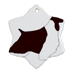 English Springer Spaniel Silo Color Snowflake Ornament (Two Sides)
