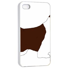 English Springer Spaniel Silo Color Apple iPhone 4/4s Seamless Case (White)