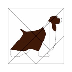 English Springer Spaniel Silo Color Acrylic Tangram Puzzle (6  x 6 )