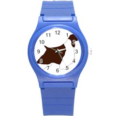 English Springer Spaniel Silo Color Round Plastic Sport Watch (S)