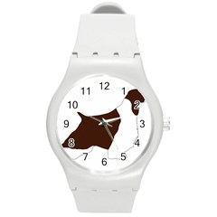 English Springer Spaniel Silo Color Round Plastic Sport Watch (M)
