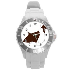 English Springer Spaniel Silo Color Round Plastic Sport Watch (L)