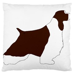 English Springer Spaniel Silo Color Large Cushion Case (Two Sides)