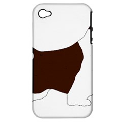English Springer Spaniel Silo Color Apple iPhone 4/4S Hardshell Case (PC+Silicone)