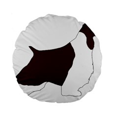 English Springer Spaniel Silo Color Standard 15  Premium Round Cushions